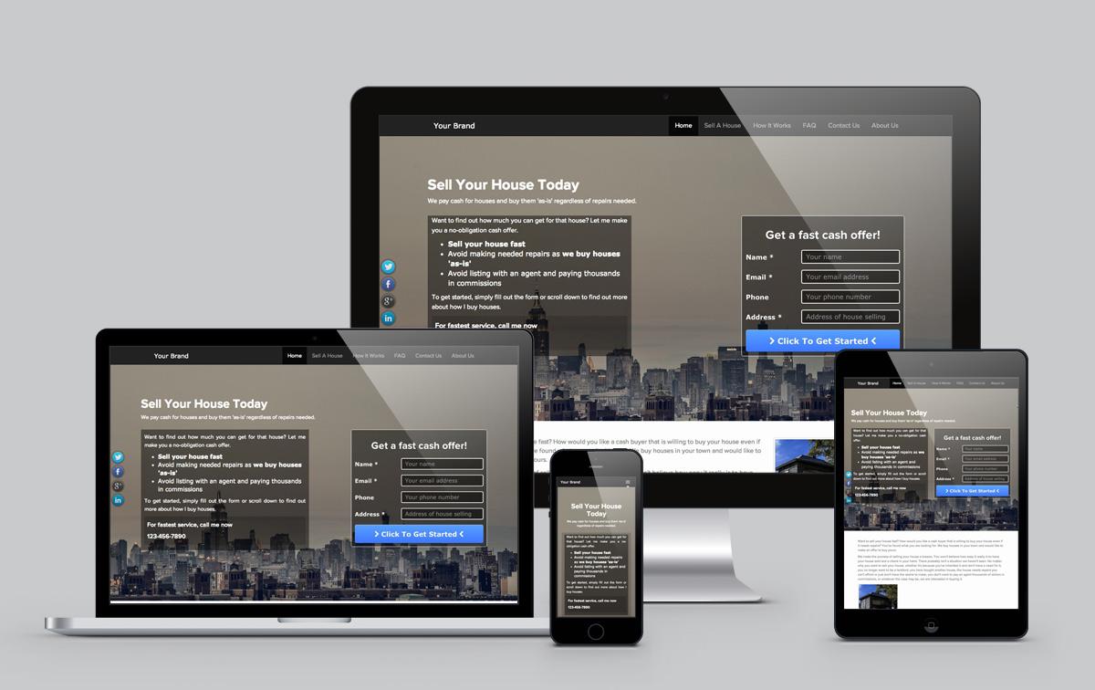 Best Real Estate Investor Website Templates - Real estate wholesale website templates