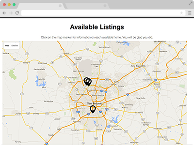 mapping of your available properties