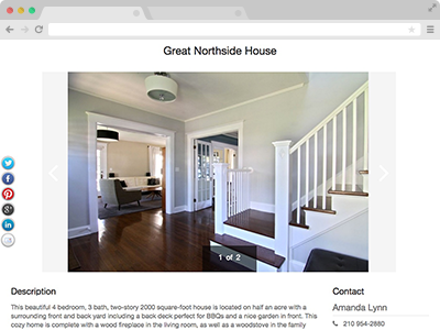 show house images and enter a description