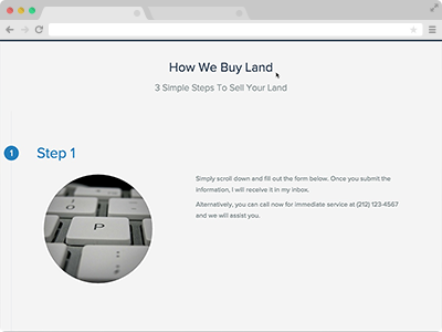 land buying website content