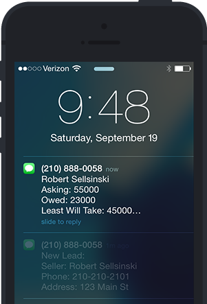 beat your competition to the deal with instant text notifications