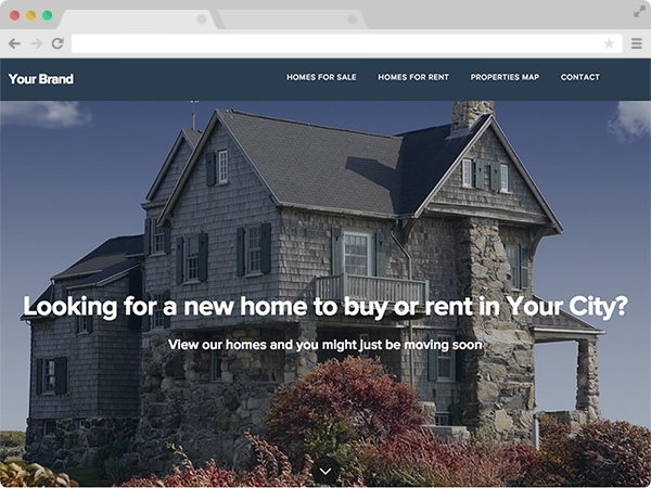 Clean Selling Real Estate Investor Website Template