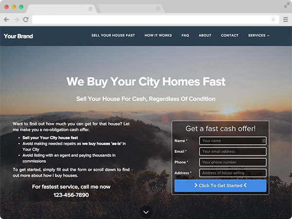 Clean Real Estate Investor Website Template