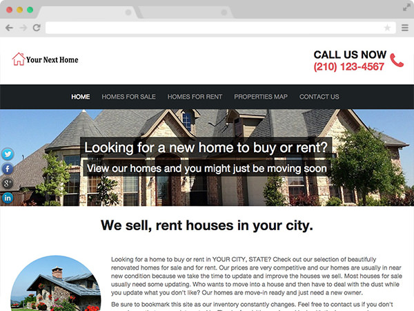 Contemporary Selling Real Estate Investor Website Template
