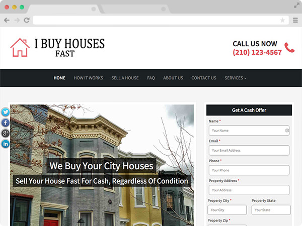 Contemporary Real Estate Investor Website Template