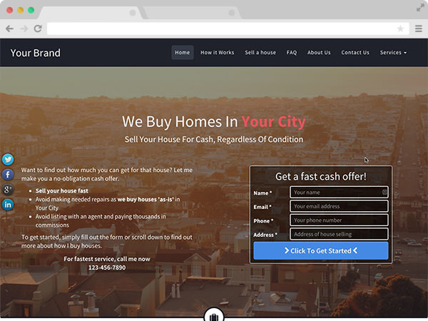 Grand Real Estate Investor Website Template