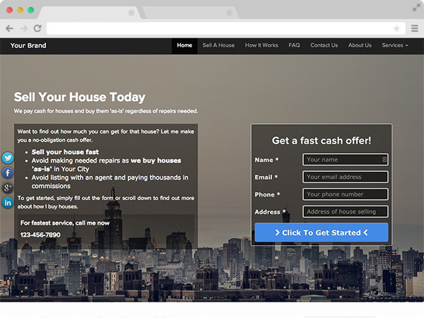 Modern Real Estate Investor Website Template