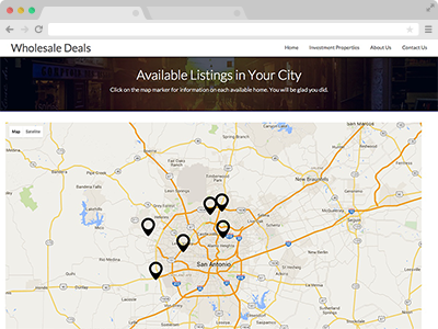mapping of your available wholesale properties